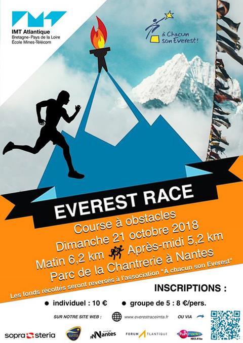 """100 % des bénéfices de l'Everest Race seront reversés à """"A Chacun son Everest !"""" - Nantes"""