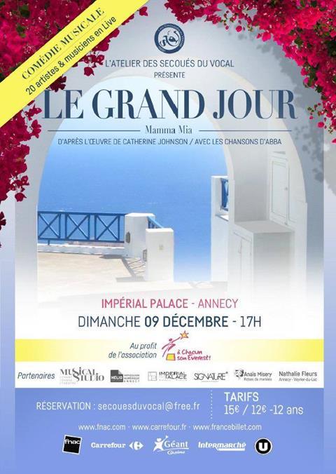 Représentation de la comédie Musicale Mamma Mia au profit d'A Chacun Son Everest ! - 9 décembre - Annecy