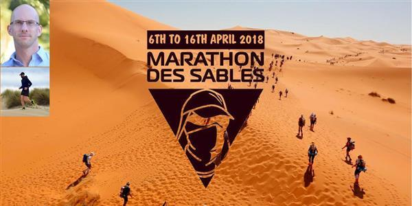 Lydéric court le Marathon des Sables 2018 pour A Chacun Son Everest