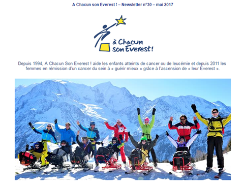A Chacun son Everest ! – Newsletter n°30 – mai 2017