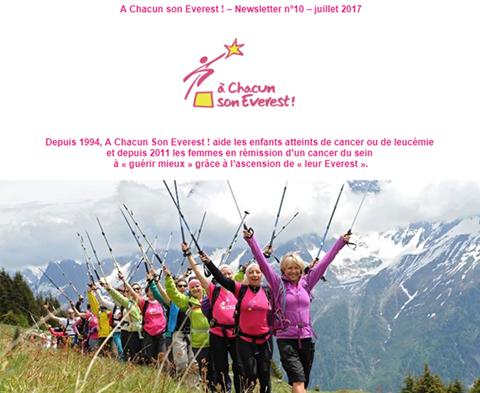 A Chacun son Everest ! – Newsletter n°10 – juillet 2017