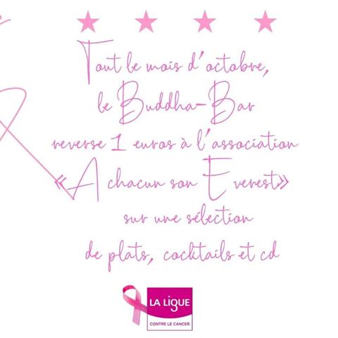 Buddha-Bar Paris se mobilise pour Octobre Rose