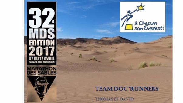 la Team Doc'Runners au MARATHON DES SABLES 2017