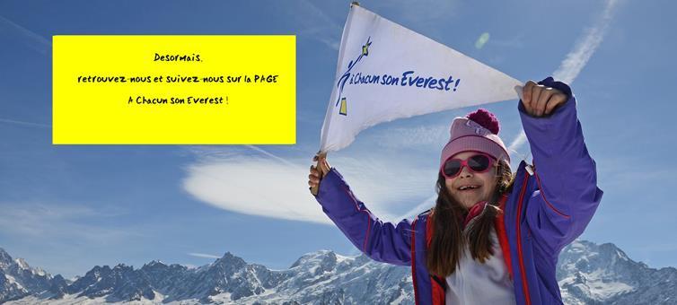 Ouverture d'une nouvelle PAGE Facebook pour A Chacun son Everest!