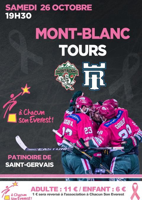 Hockey mont-blanc VS Tours à la Patinoire de Saint-Gervais